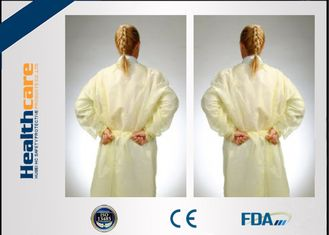 Non - Irritating Disposable Isolation Gowns Non-woven 16-70G Patient Exam Gowns