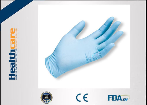 Anti-Bacterial Nitrile Disposable Protective Gloves Blue Powder Free 100 Pcs Box