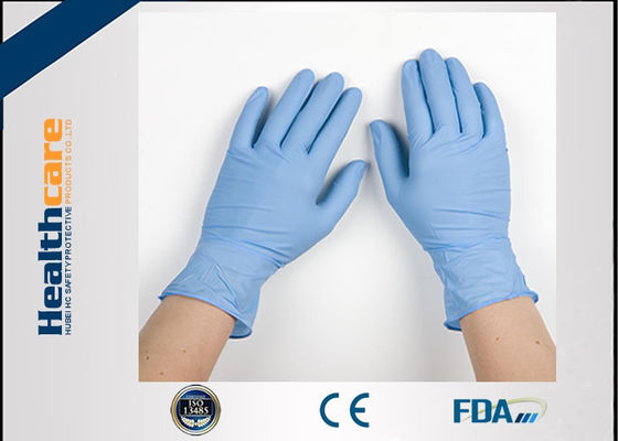 Grade A Blue Nitrile Medical Grade Exam Disposable Gloves One Time Powder Free